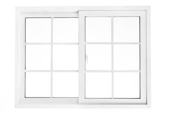 """48""""x 36"""" UPVC Sliding Window with Grids and Mesh"""