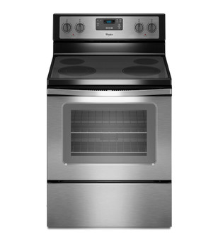 """30"""" 4.8 cu.ft. Freestanding Electric Stove In Stainless"""