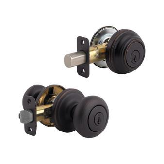 Kwikset Juno Combo Lock in Antique Brass (04KW-99910-033)