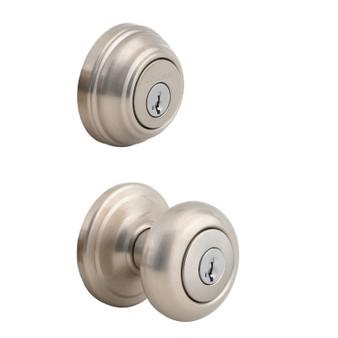 Juno Combo Lock in Satin Nickel