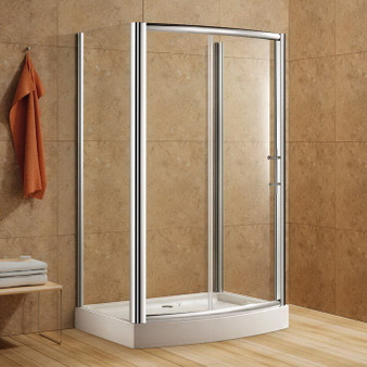 Rectangular Shower Enclosure with Tempered Glass