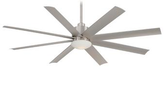 "Slipstream 65"" 8 Blade Outdoor Ceiling Fan in Brushed Nickel (29MI-F888-BNW)"
