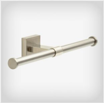 Maxted Double Toilet Paper Holder in Satin Nickel