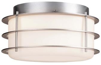 2 Light Flush Mount in Silver