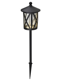LED 1 Light Garden Lamp in Sand Black