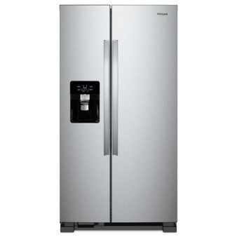 "25 cu.ft. 36"" Side by Side Refrigerator In Stainless Steel"
