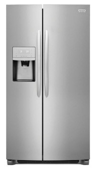 Frigidaire 25.5 cu.ft. Side by Side Refrigerator in Stainless Steel