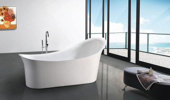 Q156A Freestanding Oval Bathtub In White
