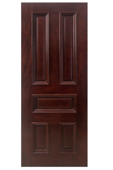 "M65 32""x80"" 5 Panel Mahogany Finished Door"