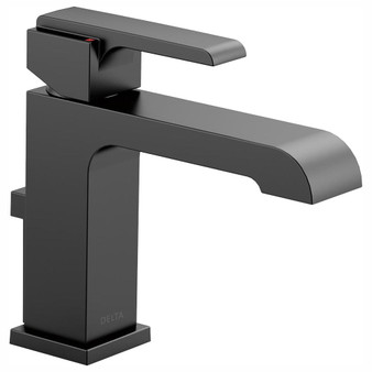Ara Single Lever Lavatory Faucet in Matt Black