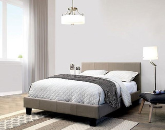 Sims Queen Upholstered Bedframe in Gray