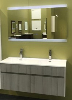 "48"" Double Wall Hung Vanity with Mirror"