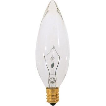 Satco 15W Incandescent E12 Bulb
