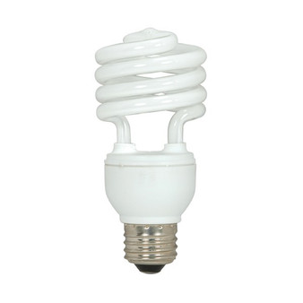 Satco 13W Medium Mini Spiral Fluorescent E26 Bulb (Pack of 4)