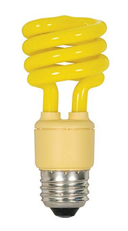 Satco 13W Mini Spiral Yellow Fluorescent E26 Bulb
