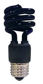 Satco 13W Mini Spiral Black Fluorescent E26 Bulb