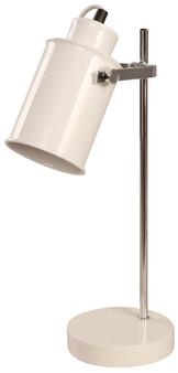 04910 1-Light Desk Lamp in White and Chrome