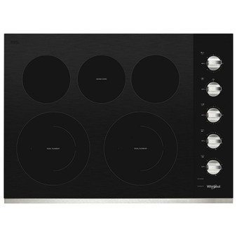 """30"""" Electric Cooktop with Black Ceramic Glass Surface"""