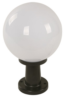 Active Home Centre 1-Light Post Mount in Black