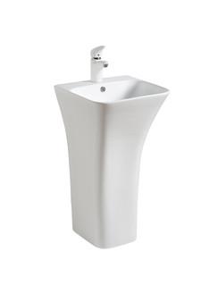 Freestanding Pedestal Basin in White (08UB-729)