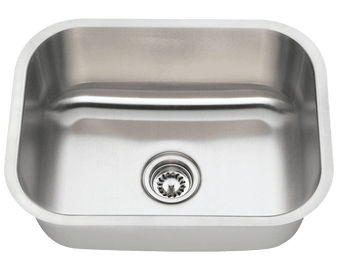 "23"" Undermount Kitchen Single Sink in Stainless Steel"