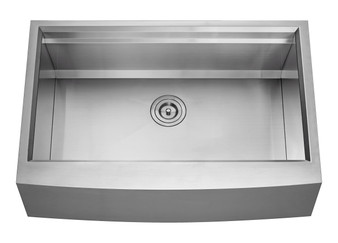 """33"""" Apron Front Single Kitchen Sink in Stainless Steel"""