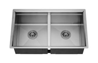 "32"" Undermount Double Kitchen Sink in Stainless Steel"
