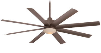 """Slipstream LED 65"""" 8 Blade Outdoor Ceiling Fan in Oil Rubbed Bronze"""