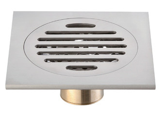 Active Home Centre Brass Square Shower Drain in Nickel