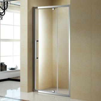 "39"" Pivoting Tempered Glass Shower Door (07KO-KP13B)"