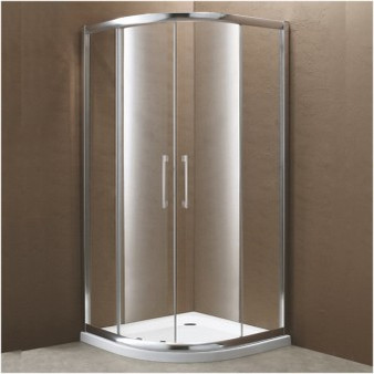 "35"" Tempered Glass Shower Enclosure with Tray (07KO-K854-1)"