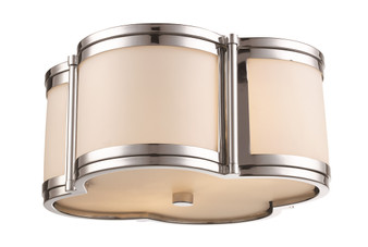 2 Light Flush Mount in Polished Chrome