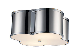 3 Light Flush Mount in Polished Chrome