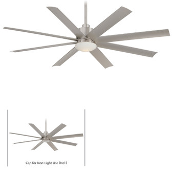 "Slipstream 65"" Ceiling Fan in Brushed Nickel Wet"