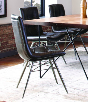 Coaster Hutchinson Upholstered Dining Chair in Charcoal