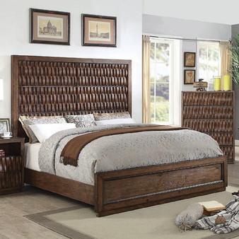Eutropia Queen Panel Bed-frame in Warm Chestnut