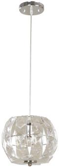 03913-4 1 Light Pendant in Chrome