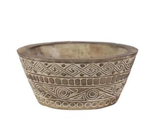28426 Carved Wood Bowl