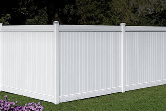 8'x 6' PVC Privacy Fence Panel in White