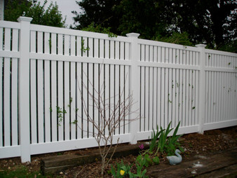 8'x 6' PVC Semi-Privacy Fence Panel in White