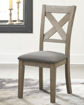 Aldwin Upholstered Side Chair in Gray