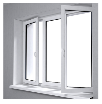 "60""x 36"" UPVC Casement Windows in White"