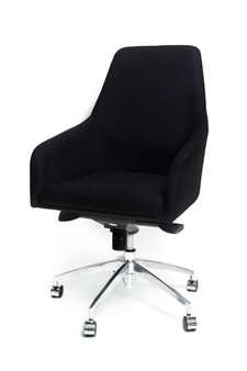 Black Office Chair - Medium Back (M2203)