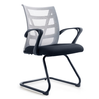 Medium Back Grey Mesh Office Chair (000015)