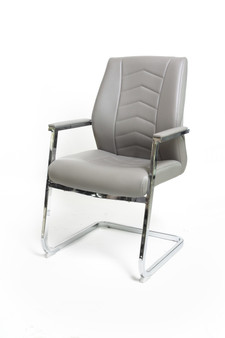 Grey Office Chair - Medium Back