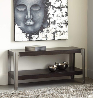 Geriville Sofa Console Table in Brown