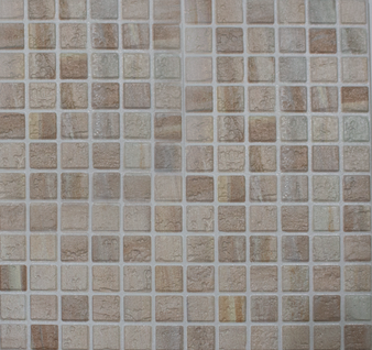 """11""""x 11"""" Mosaico Avorio Light Beige Porcelain Tile"""