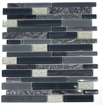#CFS594 Glass and Metal Mosaic