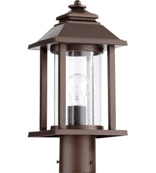 Quorum Crusoe 1 Light Outdoor Post Lantern in Oiled Bronze
