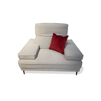 1 Seater Sofa Chair in Light Grey
